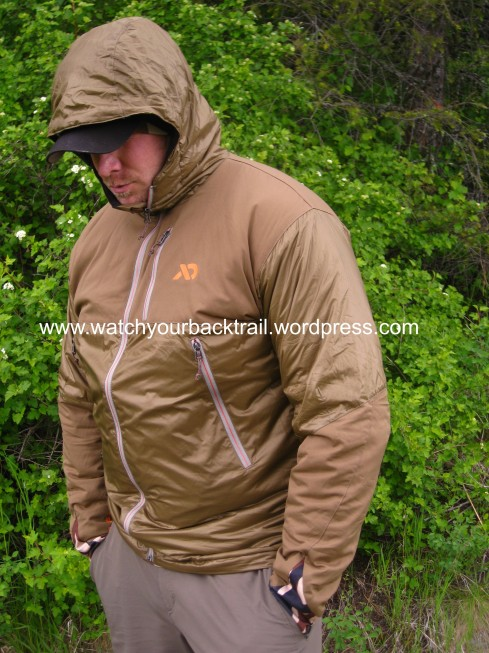 My hunting partner, Darin modeling the new Uncompahgre Puffy, by First Lite. In this picture; you can get a very good idea of the well thought out details that went into the designing of this piece.